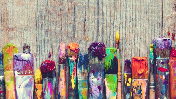 Intuitivt måleri och skriveri
