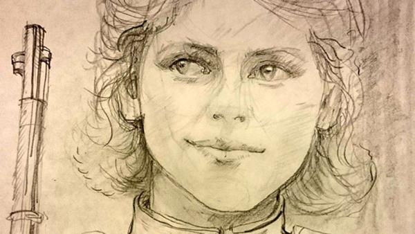 Teckna lätt porträtt - blyerts