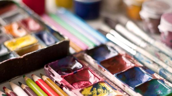 Akvarellmåleri, kväll