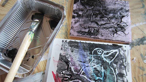 Kreativt måleri. Monotypi och tryck NYHET