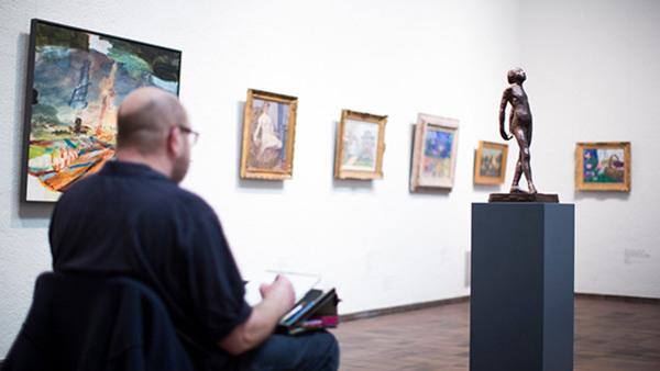 Teckning på Göteborgs konstmuseum