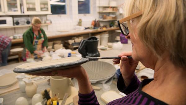 Keramik blandade tekniker