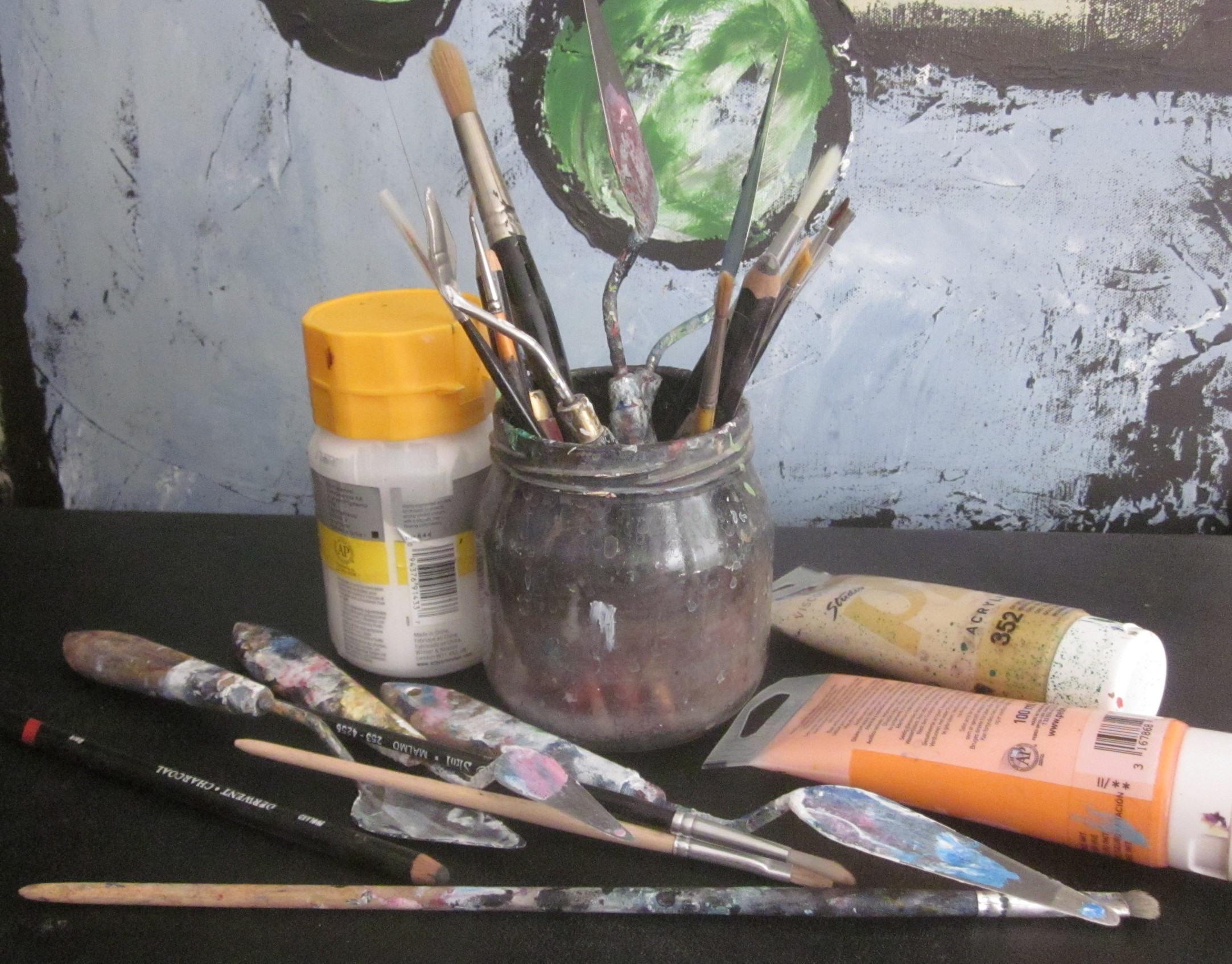 Akrylmåleri heldagskurs Nyhet