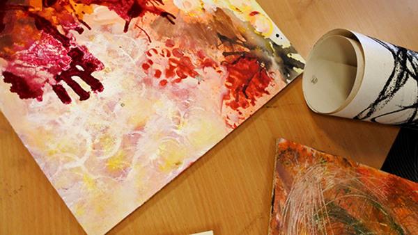 konsthistoria, komposition och färglära