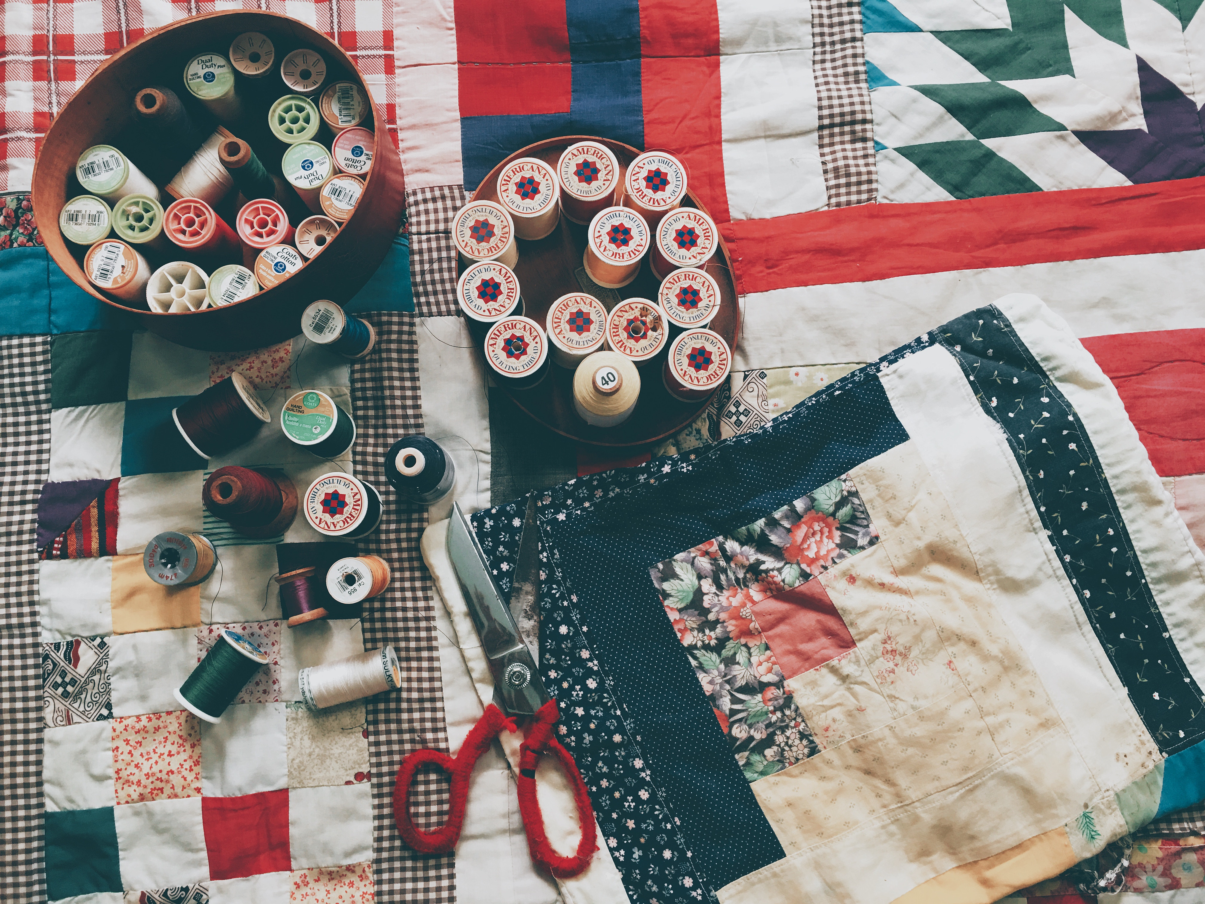 Crazy Quilt, sy en börs, Workshop