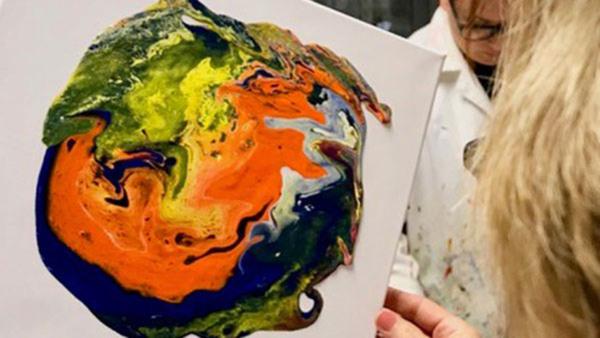 Experimentell Akrylmålning