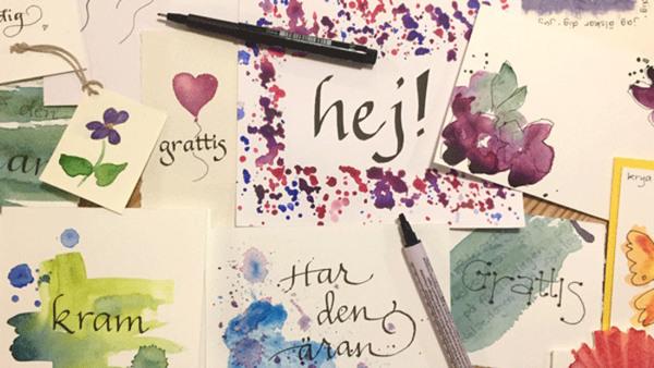 Prova på lätt kalligrafi