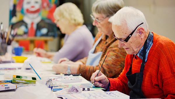 Målning för seniorer