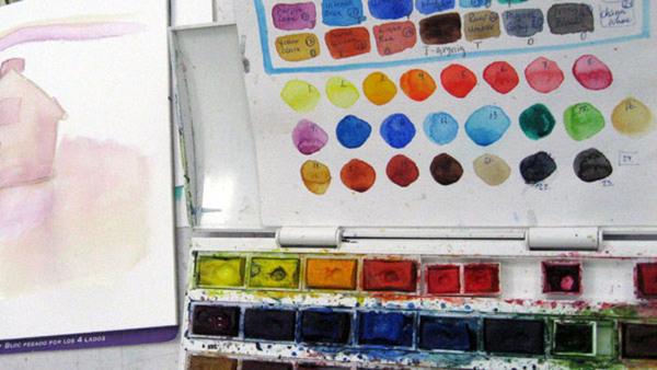 Akvarell - nybörjare tis kväll