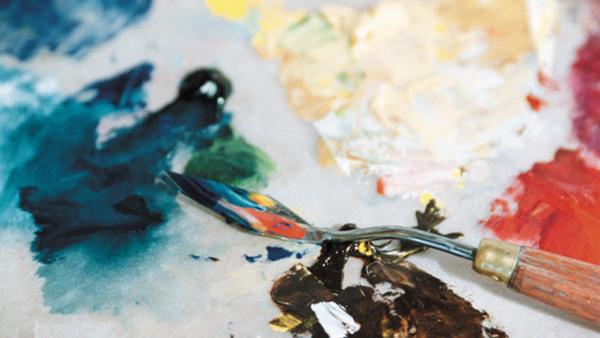 Bas Akrylmåleri - Fokus på färgen