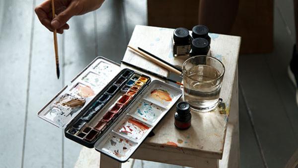 Akvarell workshop i Pointillism Nyhet