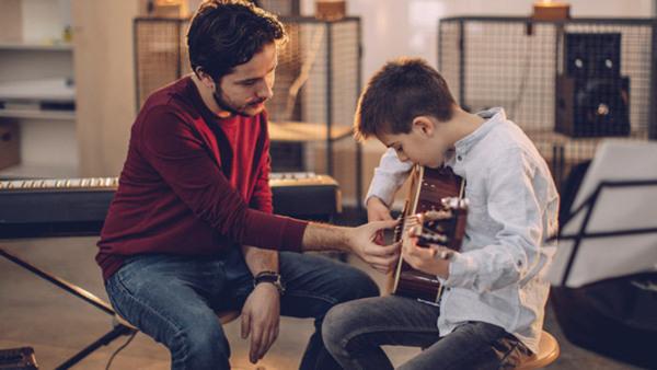 Gitarr i liten grupp nybörjare 13-18 år