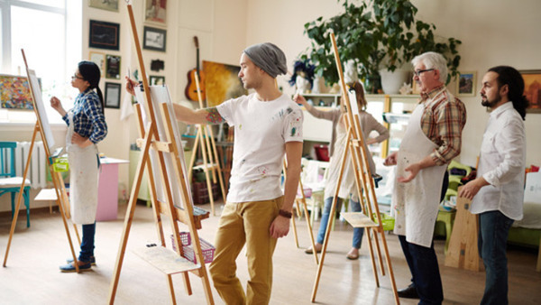 Akrylmåleri