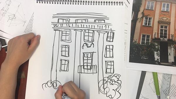 Skissa & måla arkitektur och inredning