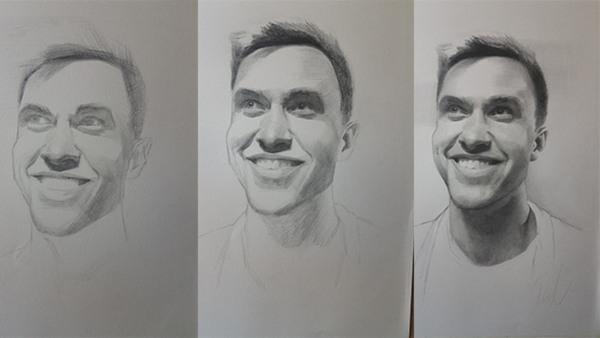 Porträtteckning