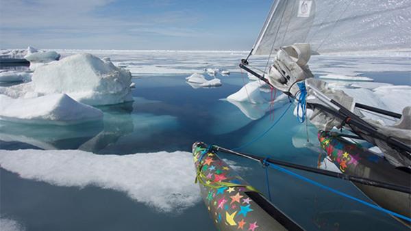 Franska föreläsning-Arktis, segling till Nordpolen